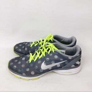 Nike Training Shoes Gray Polka Dot